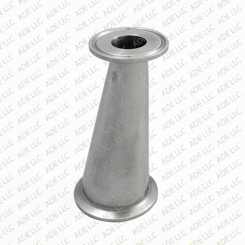 "Sanitary Stainless 2"" x 1.5""  w/ 1"" Bore Tri Clamp Eccentric Reducer, Fitting"
