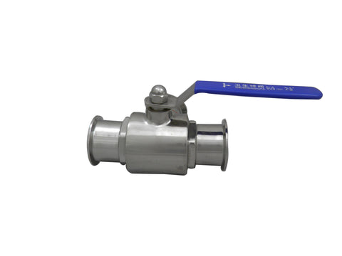 "2.5"" Tri Clamp with Three Way Ball Valve, Stainless steel 304"