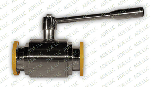 "2"" Ball Valve with 2"" Tri Clamp Ferrules, Stainless Steel 304"