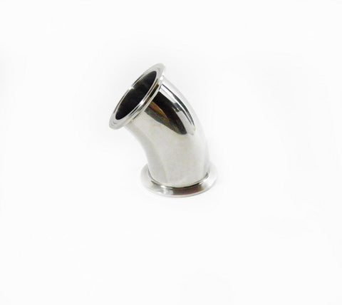 "2"" 45° Tri Clamp Elbow, Stainless Steel 304"