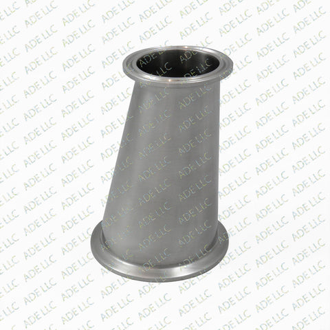 "Sanitary Stainless Tri Clover, 3"" x 2"" Tri Clamp Eccentric Reducer Part, Fitting"