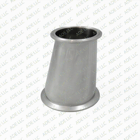 "Sanitary, Stainless Tri Clamp Tri Clover 4"" x 3"" Eccentric Reducer Part, Fitting"