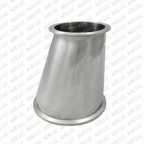 "Sanitary, Stainless 6"" x 4"" Tri Clamp Eccentric Reducer Part, Fitting"