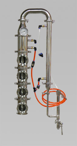 "4"" Stainless Bubble Plate Column With Cooling Kit"