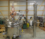 100 Gallon Jacketed, Steam Heated, Pro Series Pot Still