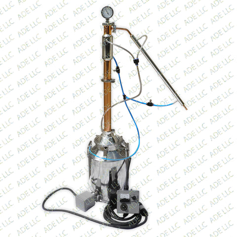 "8 Gallon Stainless Still with 2"" Copper & Stainless Reflux Column, Cooling Kit & 5500 Controller"