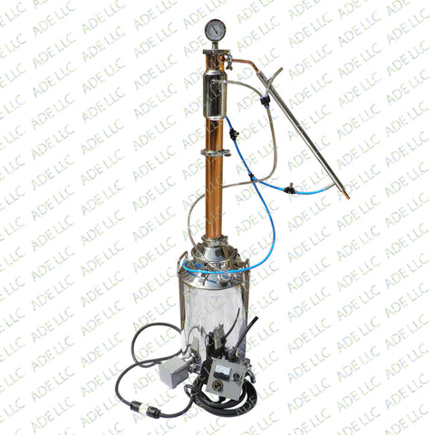 "13 Gallon Still with 3"" Copper & Stainless Reflux Column with Cooling Kit & Controller"