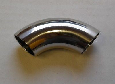 "2.5"" Weld Elbow 90°, Stainless Steel 304, Sanitary, Tubing, Fitting, Polished"