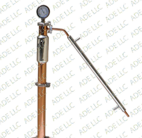 "3"" Copper and Stainless Reflux Column"