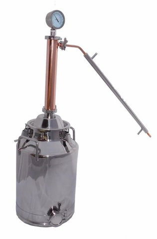 "8 Gallon Moonshine Still with 2"" Copper and Stainless Whiskey Column"