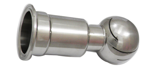 "Rotating CIP Spray Ball with a 1.5"" Tri Clamp End and 2"" Ball"