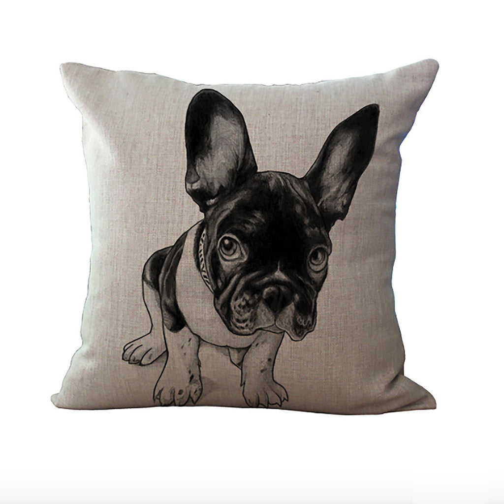 french bulldog pillow throw cushion cover – life design store - french bulldog pillow throw cushion cover