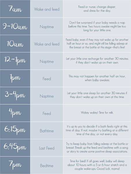 3 Month Old Baby Sleep And Feeding Schedules Woolino