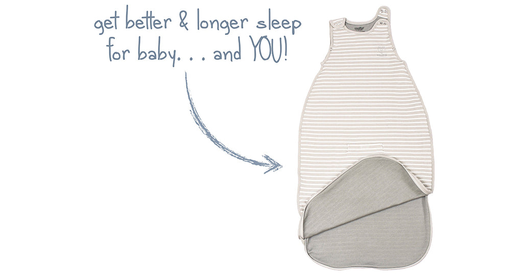 Woolino 4 Season Ultimate Baby Sleep Bag product image with description get better and longer sleep for baby and you