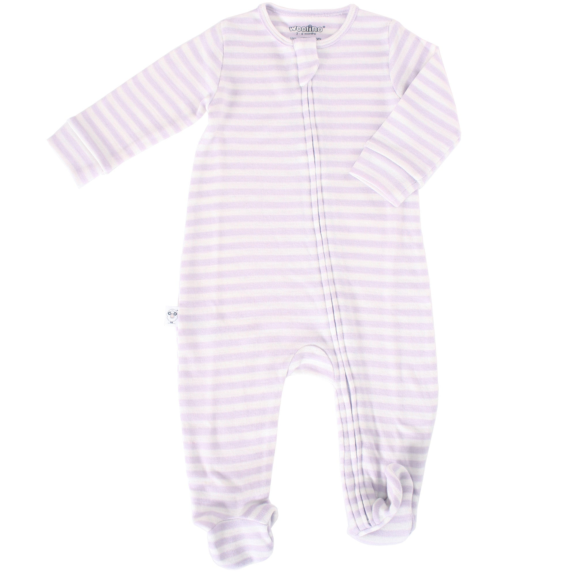Footie Pajama Sleeper, Merino Wool, Lilac
