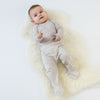 Baby Footed Pants, Merino Wool, Beige