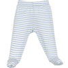 Baby Footed Pants, Merino Wool, Blue