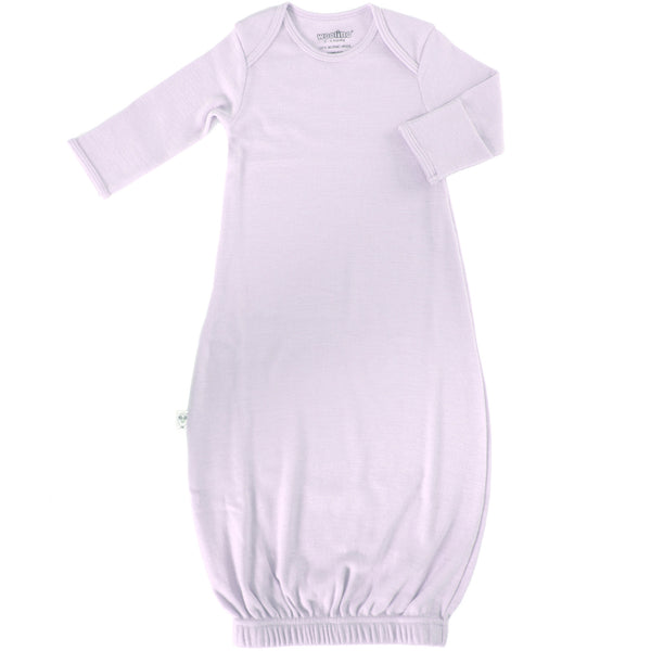 Baby Gown, Merino Wool, 0-6 Months, Lilac