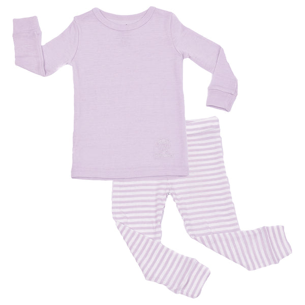 Pajamas, Long-sleeve, Merino Wool, Lilac