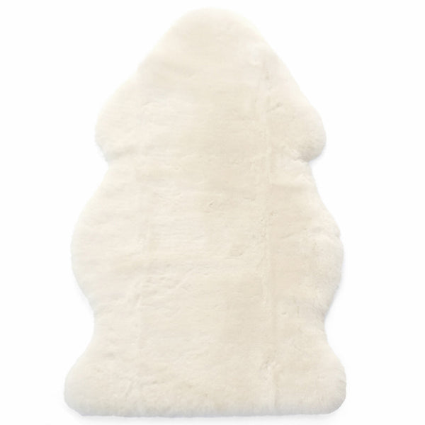 Sheepskin Rug for Babies, 100% Natural, Shorn Lambskin Wool, 2 x 3 Feet, Ivory