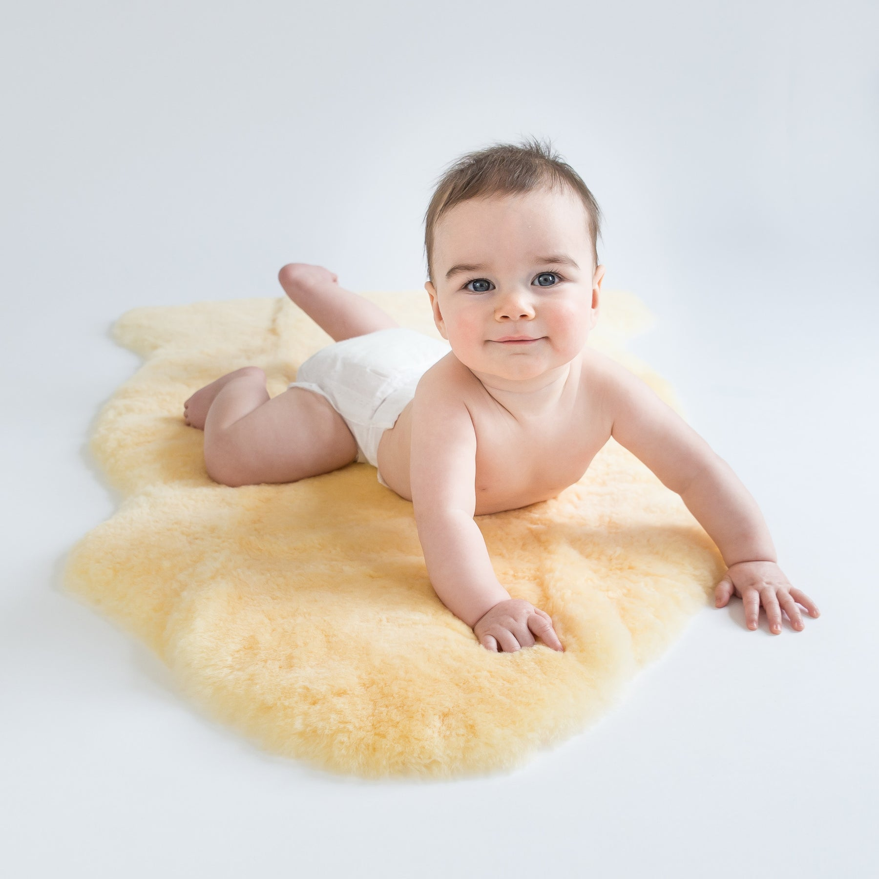 Picture of: Woolino Baby Sheepskin Rug 100 Natural Lambskin For Babies