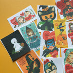 Vintage Halloween Stickers - Set of 14 - Handmade Stickers, Vintage Style, Vintage Halloween, Journal, Planner Stickers, Cute Halloween