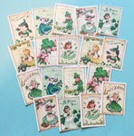 St. Patrick's Day Stickers - Set of 18 - Handmade Stickers, Vintage Style, Vintage St. Patrick's Day, Cute Planner Stickers, Cute Girls