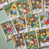 Vintage Mother Goose Stickers - Set of 18 - Handmade Stickers, Vintage Style, Cute Planner Stickers, Nursery Rhyme Stickers, Cute Children