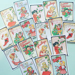 Christmas Stickers - Set of 18 - Handmade Stickers, Vintage Christmas, Cute Planner Stickers, Cute Christmas, Vintage Holiday Stickers, Xmas