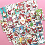 Santa Stickers - Set of 24 - Handmade Stickers, Vintage Christmas, Cute Planner Stickers, Cute Christmas, Holiday Stickers, Santa Claus