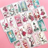 Christmas Stickers - Set of 24 - Handmade Stickers, Vintage Christmas, Cute Planner Stickers, Cute Christmas, Holiday Stickers, Pink Kitsch