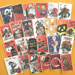 Vintage Halloween Stickers - Set of 49 - Handmade Stickers, Halloween Bag, Vintage Halloween, Cute Witches, Planner Stickers, Cute Halloween