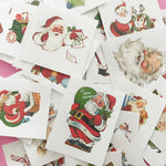 Santa Claus Stickers - Set of 32 - Handmade Stickers, Vintage Christmas, Planner Stickers, Cute Christmas, Holiday Stickers, Vintage Santa