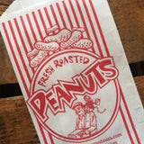 Peanut Bags - Set of 10 - Paper Bag, Treat Bag,  Merchandise Bags, Circus Bags, Junk Journal Paper Supply, Craft Supplies, Paper Ephemera