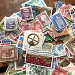 Vintage Cancelled Stamps - Random Set of 75 - Vintage Stamps, Altered Art, Junk Journal, Scrapbooking, Mixed Media, Collage, Paper Ephemera