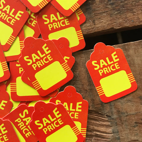 Sale Tags - 20 Tags - Junk Journal Ephemera, Journal Tag, Planner Supply, Craft Supply, Paper Embellishment, Paper Ephemera, Price Tags