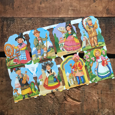 German Scraps - Children - Die Cuts, Cut Outs, Reproduction, Junk Journal Ephemera, Crafts, Paper Ephemera, Vintage Children, Vintage Kids