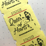 Queen of Hearts Tickets - Set of 20 - Junk Journal Paper Ephemera, Journal Ephemera, Craft Supply, Journal Tickets, Valentine Ephemera