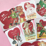 Wizard of Oz Stickers - Set of 10 - Handmade Stickers, Valentine Stickers, Vintage Valentines, Journal, Planner Stickers, Cute Valentines