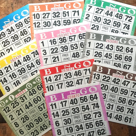 Paper Bingo Cards - Set of 60 - Bingo Sheets, Junk Journal Paper, Junk Journal Ephemera, Planner Supplies, Craft Supplies, Paper Ephemera