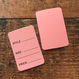 Pink Price Tags - 25 Tags - Junk Journal Ephemera, Journal Tag, Planner Supply, Craft Supply, Paper Embellishment, Paper Ephemera, Pink Tags