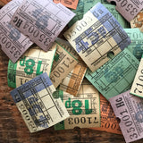 Vintage British Bus Tickets - Set of 30 - Vintage Tickets, Vintage Paper Ephemera, Vintage Bus Tickets, Old Tickets, Junk Journal Tickets