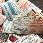 Vintage Pharmacy Labels - Set of 15 - Drug Store Labels, Vintage Halloween Ephemera, Apothecary, RX, Medicine Labels, Vintage Poison Labels