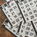 Black Bingo Cards - Set of 20 - Bingo Sheets, Junk Journal Paper, Journal Ephemera, Planner Supplies, Craft Supplies, Paper Ephemera, Craft