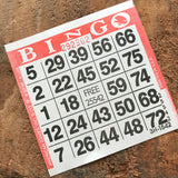 Christmas Bingo - Set of 20 Red and Green Bingo Sheets - Junk Journal Paper Ephemera, Journal Ephemera, Planner Supplies, Craft Supplies