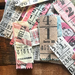 Vintage Bus Tickets - Set of 15 - Vintage Ticket Stubs, Vintage Paper Ephemera, Vintage Spanish Tickets, Old Tickets, Junk Journal Tickets