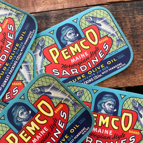 Vintage Fish Labels - Set of 3 - Vintage Labels, NOS Labels, Junk Journal, Paper Ephemera, Vintage Advertising Labels, Craft Supplies