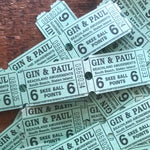 Vintage Tickets - Set of 30 - Carnival Tickets, Paper Ephemera, Circus Tickets, Old Tickets, Junk Journal, Game Ephemera, Vintage Ephemera