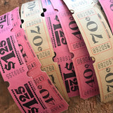 Vintage Tickets - Set of 36 - Vintage Carnival Tickets, Vintage Paper Ephemera, Vintage Circus Tickets, Old Tickets, Junk Journal Tickets