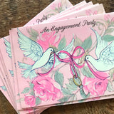 Vintage Engagement Party Invitations - Set of 10 - Vintage Wedding Cards, Engagement Cards, Vintage Unused Cards, Bridal Shower Cards